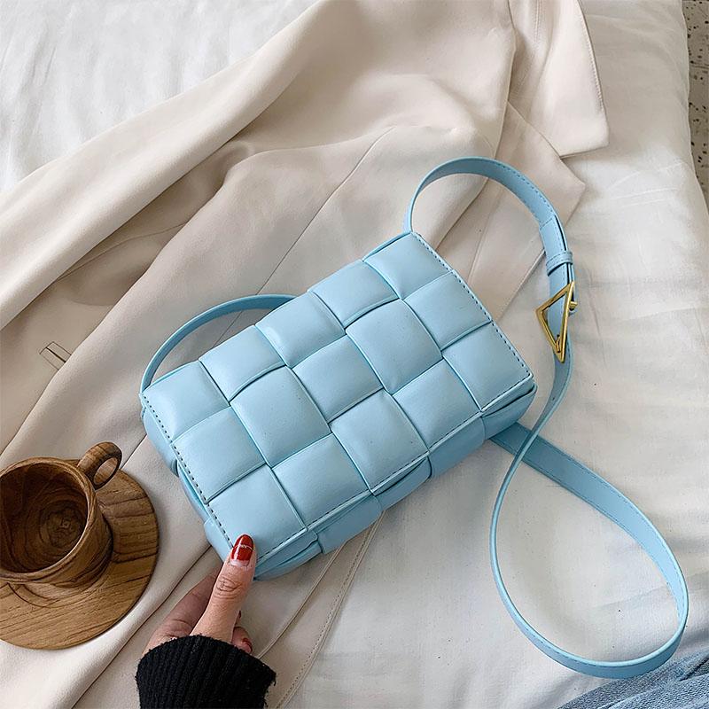 DN موضة حقيبة كروسبودي المرأة حقائب كتف للسيدات البساطة محفظة الاتجاه شعرية كبيرة النسيج لينة صغيرة مربع حقيبة يد