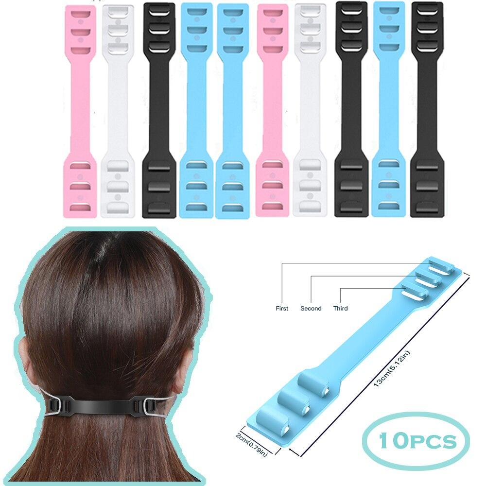 10PCS/Set Ear Extender Holder for Earloop Mask No-slip PE Soft Buckle Strap Hook Clip Relieve earache Adjust 3 Gear mask Hook