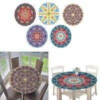 non waterproof round table cover tablecloth with elastic