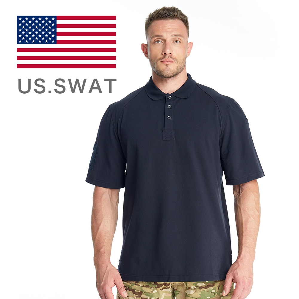 US Size Tactical Polo Shirt Men Military Camouflage Summer Short Sleeves Quick Dry Cotton Casual Man T-shirt Tees Army Camo Tops