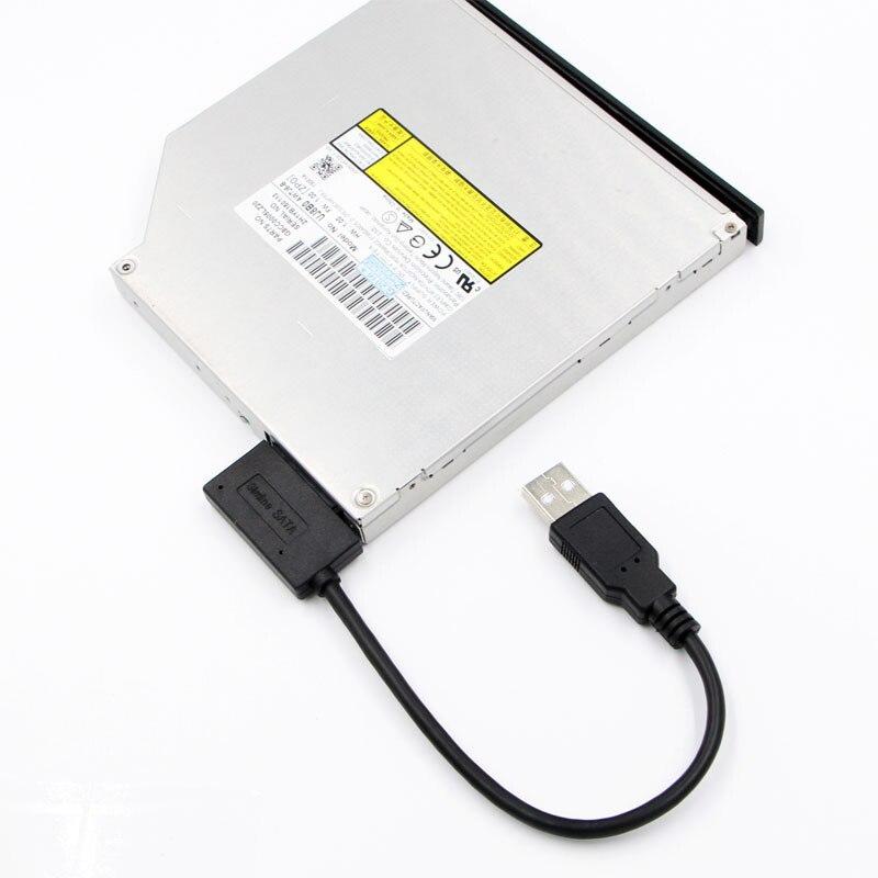 Cable adaptador USB 2,0 a Mini Sata II, convertidor de 7 +...