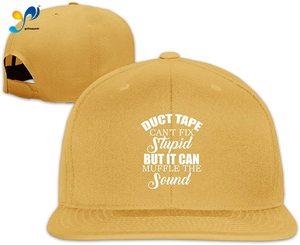 Yellowpods Duct Tape Can't Fix Stupid, But Can Muffle The Sound Men's Relaxed Medium Profile Adjustable Baseball Cap
