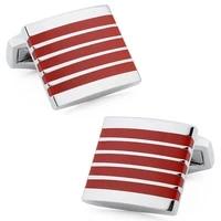 hawson classic enamel cufflinks wedding jewellry cufflinks for men fasten button for shirt on sale