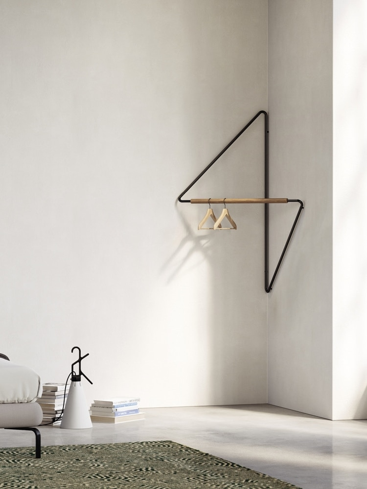 الشمال هندسية الشكل ركن الشماعات الحد الأدنى الحديثة شخصية رف ملابس شماعات الحمام غرفة نوم جدار معطف الحديد رفوف