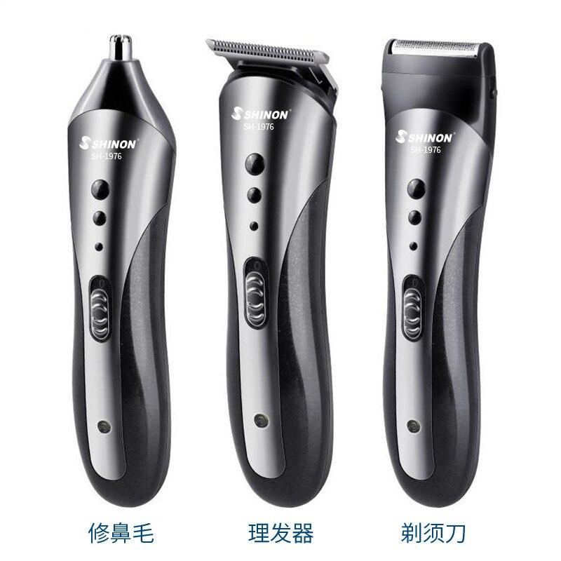 versatil 3 em 1 barbeiro casa eletrica cabeca de oleo de barbear eletrica empurrar