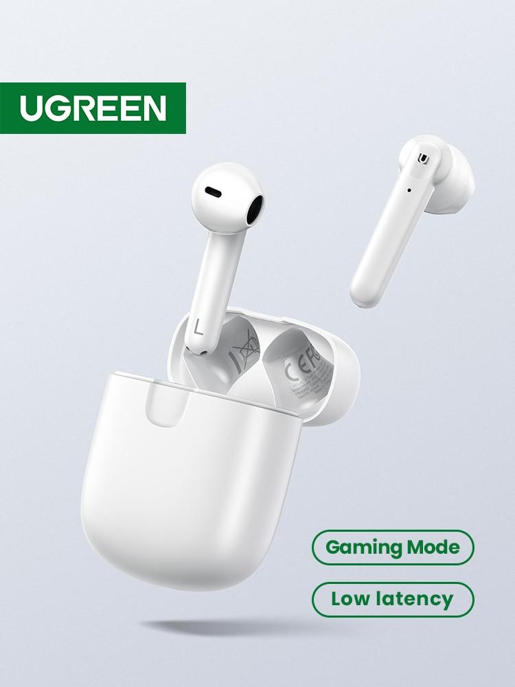 【NEW】UGREEN HiTune T2 Bluetooth 5.0 True Wireless Earbuds TWS 4 Mic Stereo Earphones Gaming Mode Low Latency Wireless Charging