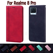 Cover For Realme 8 Pro Case RMX3081 Flip Stand Wallet Leather Funda Book On Realme8 Pro Case Phone P