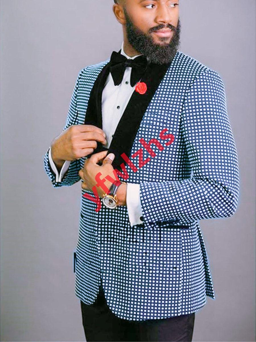 وسيم زر واحد رفقاء العريس شال التلبيب العريس البدلات الرسمية رجالي فستان الزفاف رجل السترة حفلة موسيقية عشاء (سترة + بنطلون + ربطة عنق) A197
