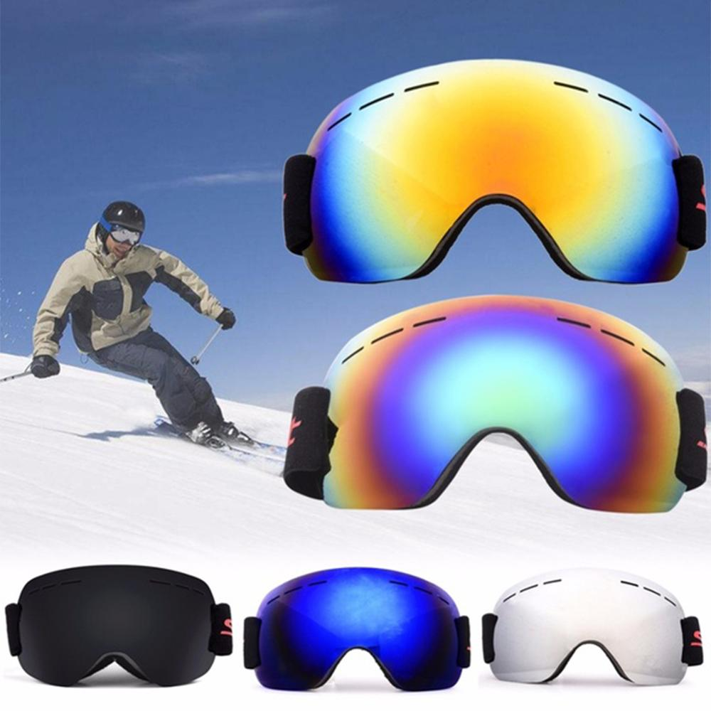 Лыжные очки Анти-туман двойные линзы анти-УФ солнцезащитные очки на открытом воздухе ветрозащитные большие сферические лыжные очки Для муж...