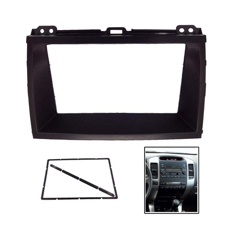 2Din coche DVD estéreo Fascia para Toyota LEXUS GX470 Land Cruiser Prado 120 marco de montaje de Panel Dash instalación Tirm Kit bisel