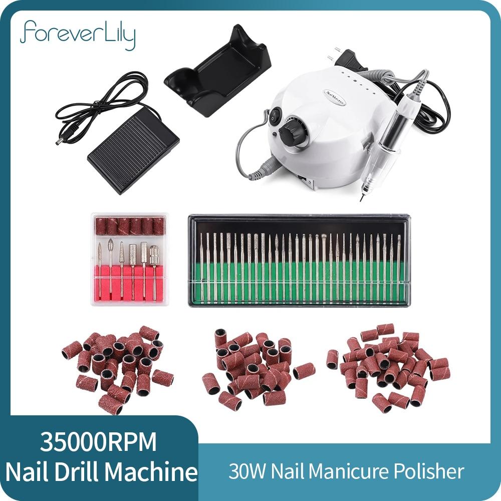 35000 rpm unha moagem polimento broca caneta 30w unha arte manicure maquina pedicure
