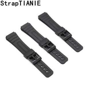 16 18 20 22mm Bracelet Silicone Rubber Bands For Casio Wristwatches EF Replace Electronic Wrist Watch Band Watch Sports Straps