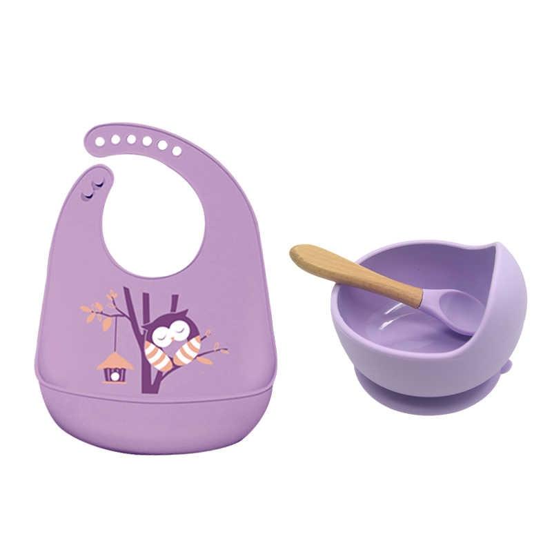 طفلة مجموعة المرايل bowls قاعدة الملاعق الرسوم المتحركة dwater برهان المياه الأطفال المئزر المواد الغذائية مريلة سيليكون للأطفال