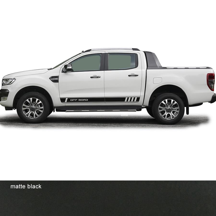 2 uds de lado de gráfico de vinilo de la etiqueta engomada del coche para Ford ranger 2012-presente
