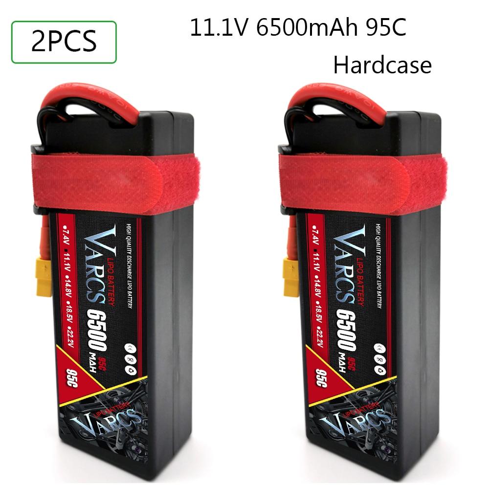 2PCS VARCS RC Battery Lipo 7.4V 11.1V 14.8V 2S 3S 4S 6500MAH 8400MAH 7000mah 95C 100C 120C 140C  for 1:8 1:10 Truggy Car enlarge