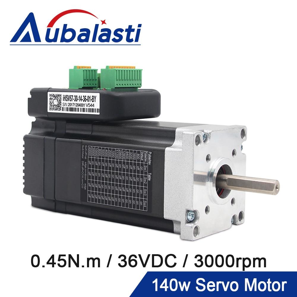 Aubalasti-محرك سيرفو AC مدمج JMC 140W Nema 23 ، مع سائق ، 36VDC 0.45N.m 3000RPM 6A ، محرك سيرفو صغير