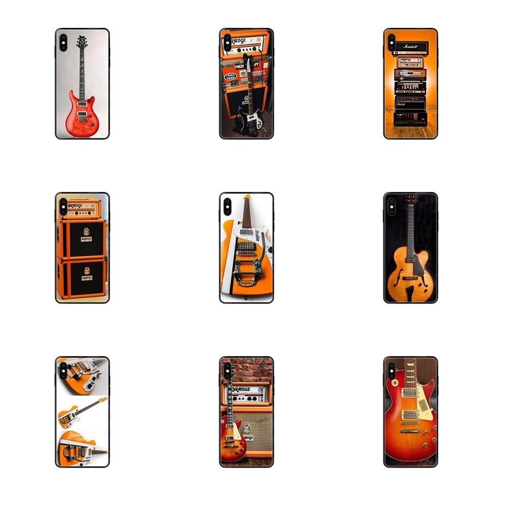 Amplificador eléctrico para guitarra color naranja, Protector de pantalla de TPU suave,...