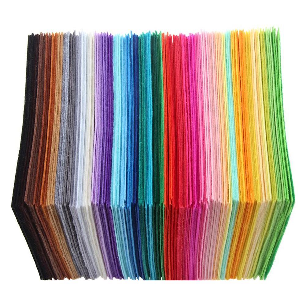 40pcs/set Non-Woven Felt Fabric Polyester Cloth Felt Fabric DIY Bundle for Sewing Doll Handmade Craf