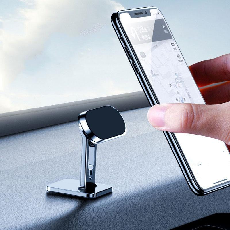 Alloy Magnetic Car Bracket 360° With Wire Clip Car Navigation Base Creative Desktop Mobile Phone Bracket Car Interior Products 2201 phone bracket mobile phone bracket magnetic car navigation bracket
