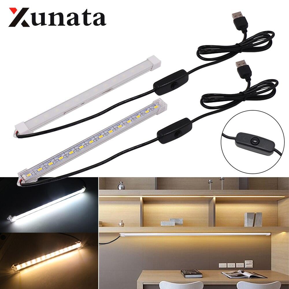 DC 5V 5630 LED Bar Light USB Powered Rigid Strip Milky white Cover Hard Bar Light Recharge Tube Lamp