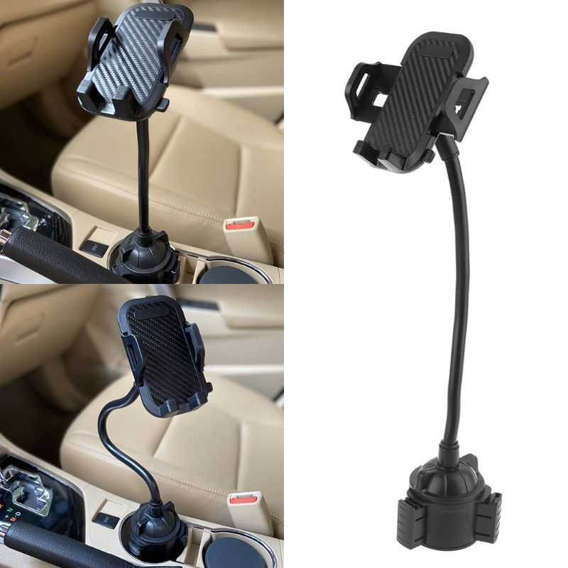 AliExpress - Universal Car Cup Mount Mobile Phone Holder Stand Adjustable Gooseneck Cradle for iPhone 5/6/7/8 Pus XR XS 3.5-7″ Cellphone Smar