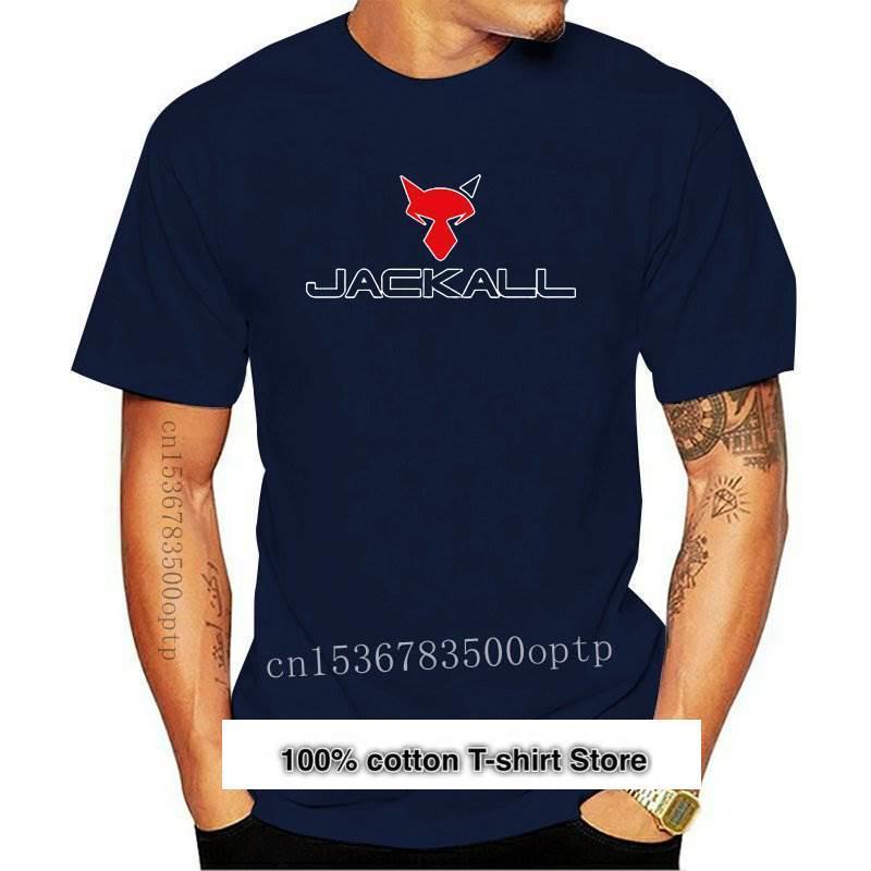 Jackall-camiseta con logotipo de señuelos para hombre, cebo de pesca, color negro