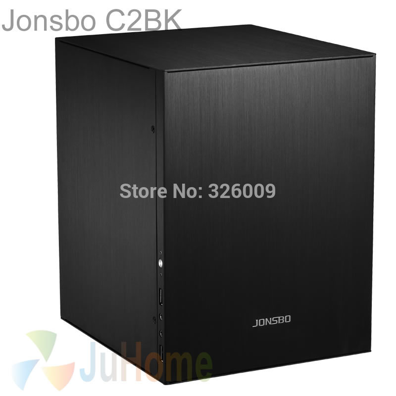 Jonsbo C2 Schwarz C2BK, HTPC ITX Mini-computer fall in aluminium, unterstützung 3.5 ''HDD, USB3.0, heimkino computer, Andere C3 V4