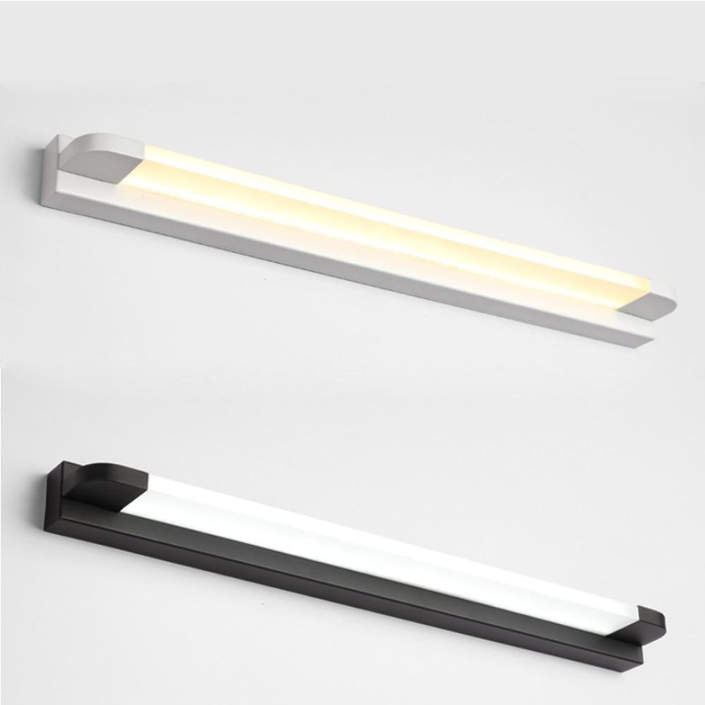 moderno longo banheiro vaidade espelho de luz led arandela luminarias interior acrilico