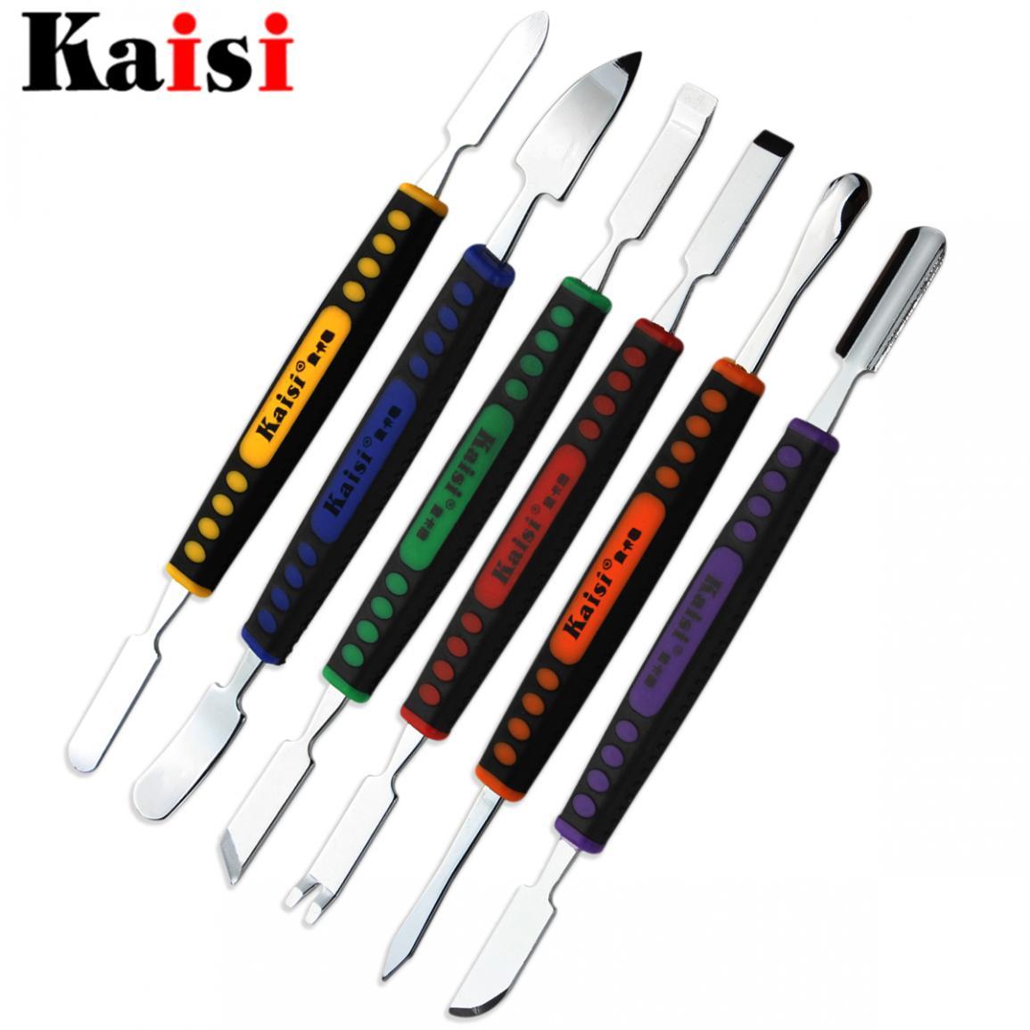 Juego de 6 piezas Kaisi de doble punta de Metal Spudger, Kit de herramientas de reparación de mano de apertura para iPhone, iPad, tableta, teléfono móvil