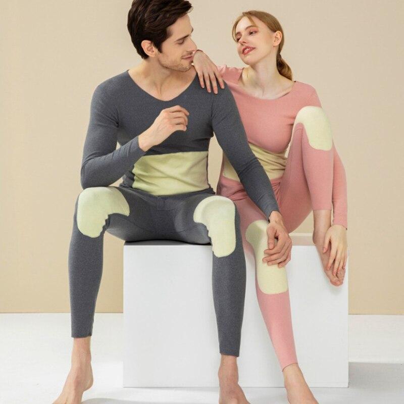 2021 جديد الحرير المرقعة ملابس اخلية حرارية للنساء المخملية الدافئة طويلة جونز مجموعة سلس الثانية الذكور الحرارية الجلد الشتاء الملابس