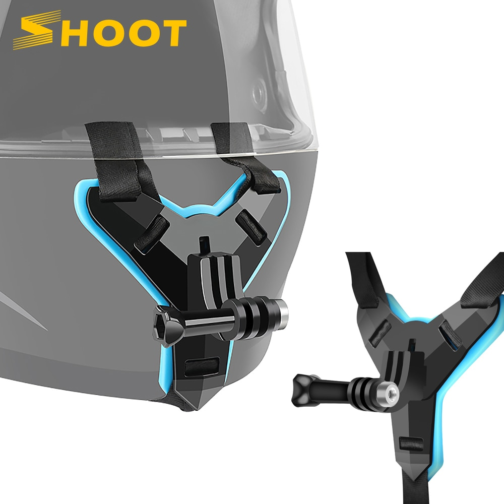 SHOOT Motorcycle Helmet Front Chin Bracket Holder Mount for GoPro Hero 9 8 7 6 5 Black Xiaomi Yi 4K Sjcam M20 Eken H9r Accessory