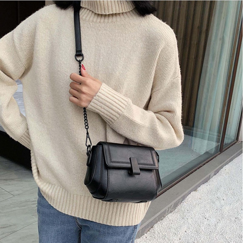 Fashion women's small bag autumn winter new single-shoulder cross-body bag women chain small square bag women's bag