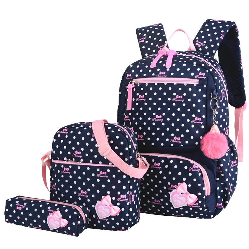 Детский Школьный рюкзак с принтом, комплект школьных рюкзаков для девочек, водонепроницаемые сумки
