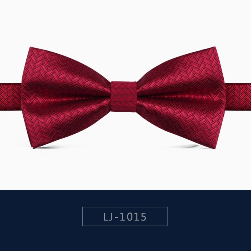 2020 Brand New Fashion Men's Bow Ties Double Fabric Red Bamboo Weave Bowtie Banquet Party Wedding Butterfly Tie with Gift Box