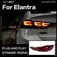 akd car styling tail lamp for hyundai elantra led tail light 2017 2019 elantra drl dynamic signal brake reverse auto accessories