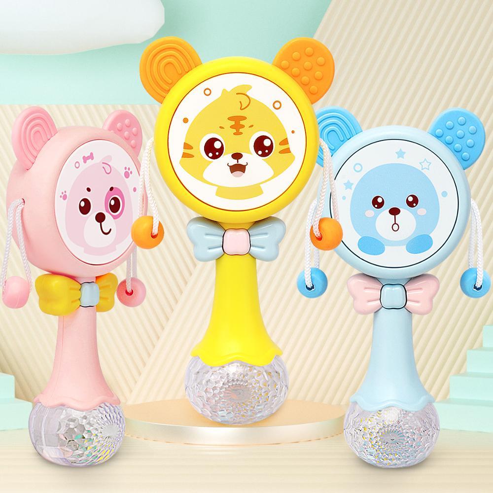 Sonajero multifunción para bebé, música para bebé, tambor de mano, juguete educativo para niño, producto para bebé, silla o cuna de bebé, juguetes interactivos