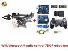 SZDOIT Wifi/Bluetooth/poignée contrôle complet métal 7 axes Robot bras avec pince 7DOF RC robotique 7 pièces Servos bricolage pour Arduino