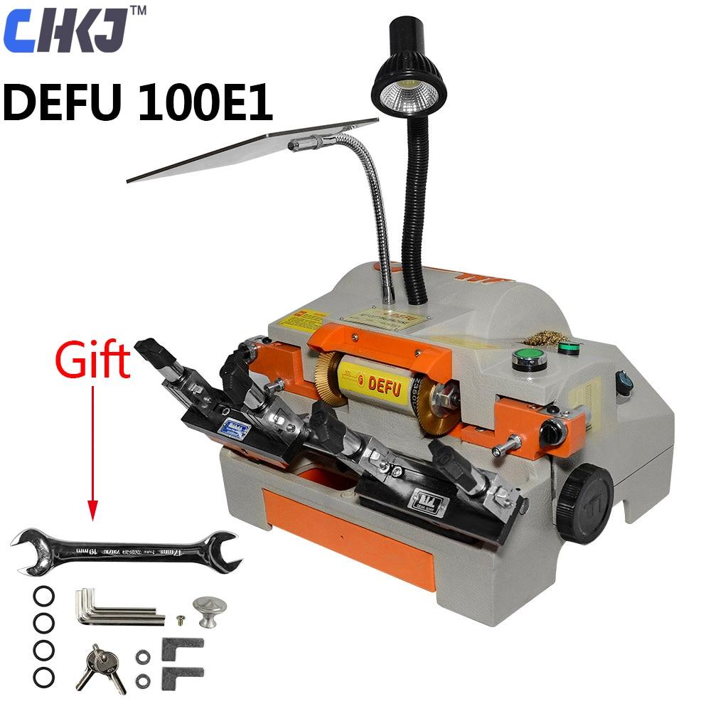 CHKJ DEFU 100E1 Double Head Duplicating Car Auto key Cutting Machine Horizontal Machine For House Door Key Duplicated Machine