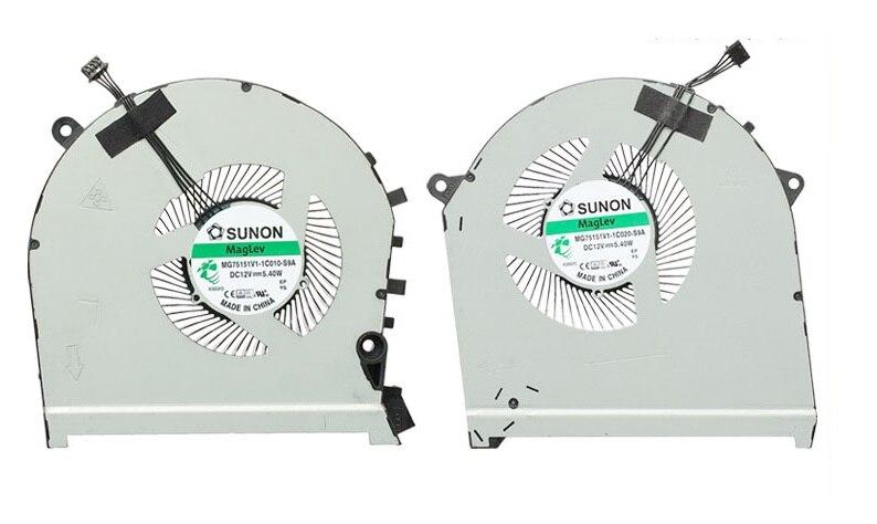 جديد وحدة المعالجة المركزية GPU مروحة التبريد ل HP OMEN 17-CB TPN-C144 GTX برودة مروحة MG75091V1-1C010-S9A MG75091V1-1C020-S9A