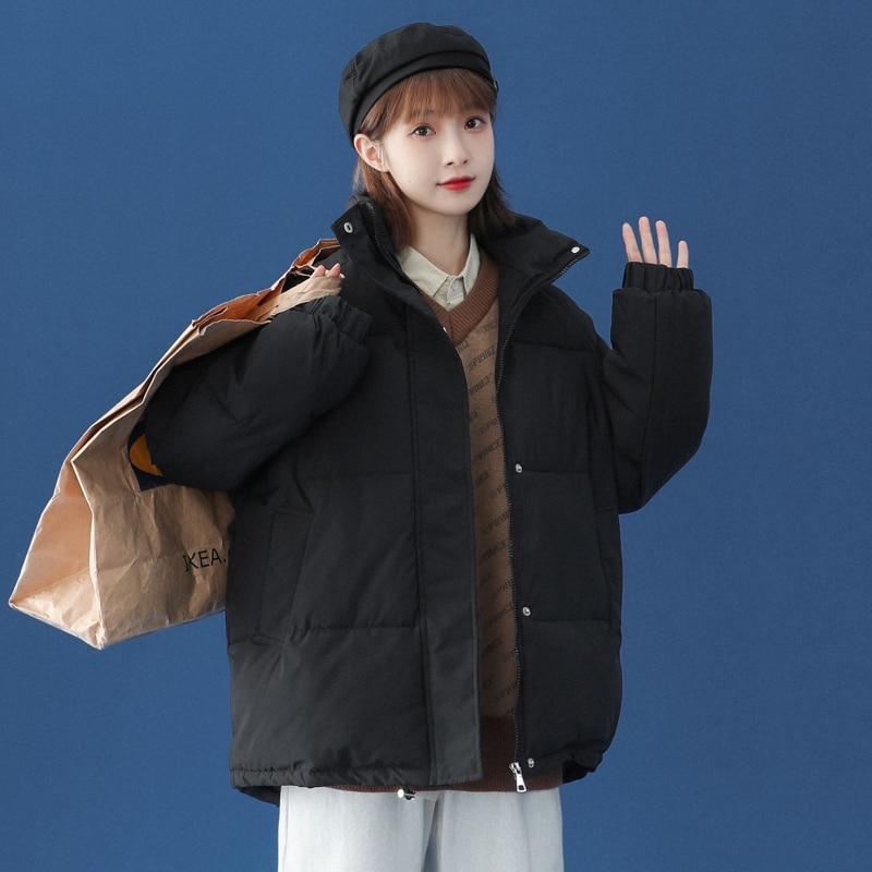 2021 جديد الشتاء معطف المرأة سميكة الدافئة أسفل القطن منتصف طول معطف معطف بركة (سترة من الفراء بقبعة للقطب الشمالي) النساء عارضة فضفاض الكورية ...