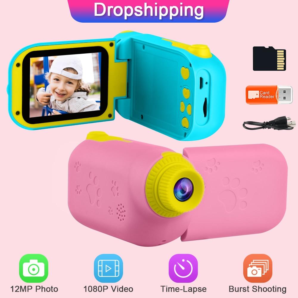 Prograce 12MP Kids Video Camera Toy GKTZ Children Digital Camera Photo Child Camera Girls Toys Gift for Girl Mini Camera for Kid