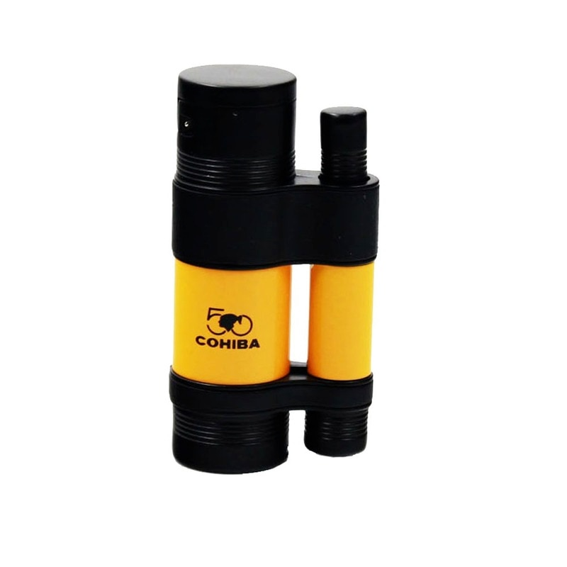 COHIBA Cigar Set Ashtray Lighter Cutter Windproof 3 Torch Jet Flame Cigar Accessoriesset Butane Gas with Punch Gift Box enlarge