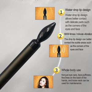 Wakeforyou Electric Vibration Eye Massager Anti-Ageing Eye Wrinkle Massager Dark Circle Removal Portable Beauty Care Pen Massage