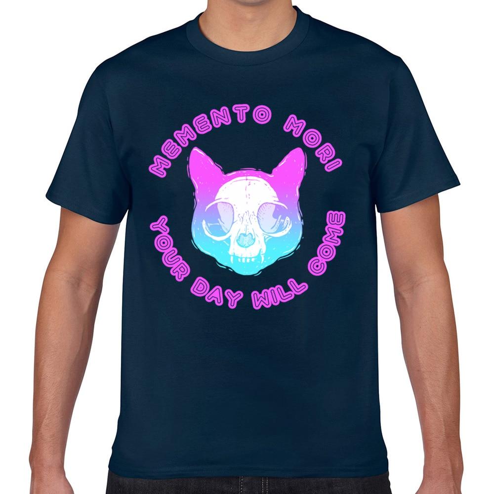 Tops camiseta para hombre pastel goth kawaii punk memento mori lindo gato skul Sexy Harajuku Geek Camiseta Hombre corto XXX