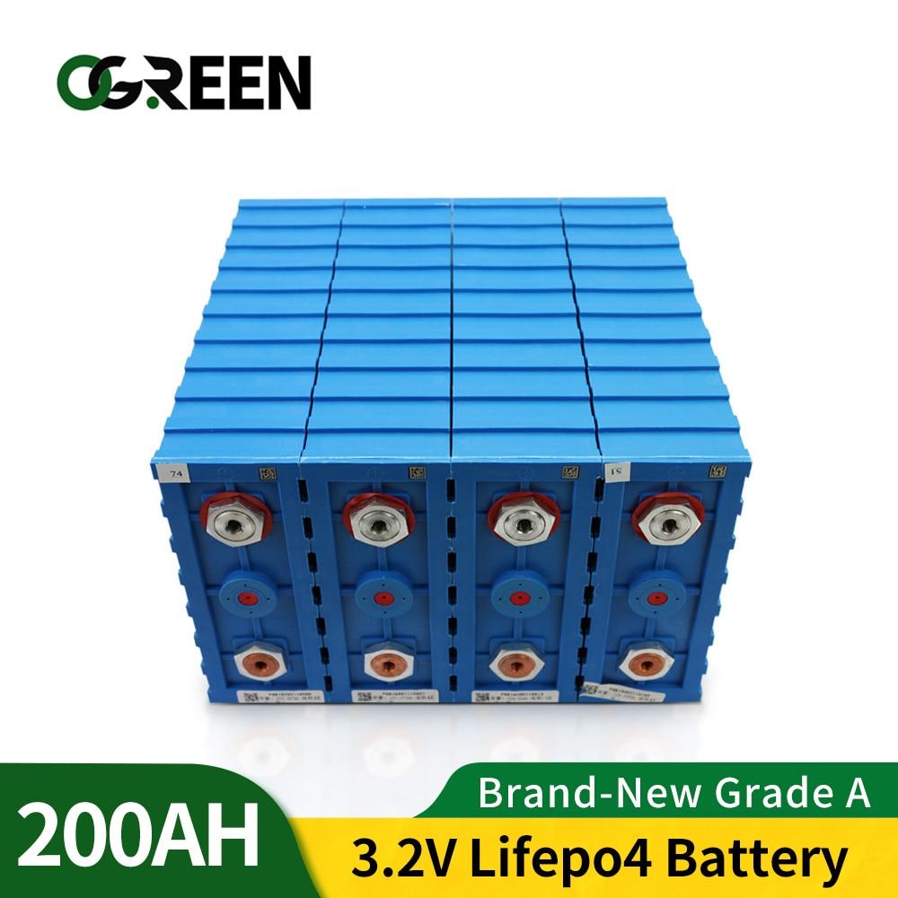 Ogreen-حزمة بطارية Lifepo4 ، 16 قطعة ، 3.2 فولت ، تيار A ، 12 فولت ، 24 فولت ، 36 فولت ، 48 فولت ، سعة عالية ، معفاة من الضرائب في الاتحاد الأوروبي والولايات ال...