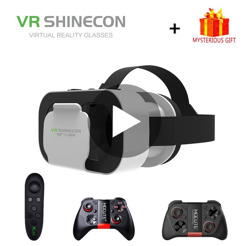 Gafas de realidad Virtual VR Shinecon casco 3D 3 D para iPhone Android Smartphone gafas Viar móvil