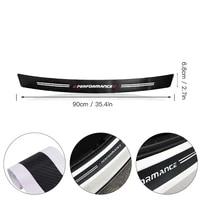 auto trunk load edge protector guard decal for bmw car rear bumper decor accessories 90cm carbon fiber protection stickers