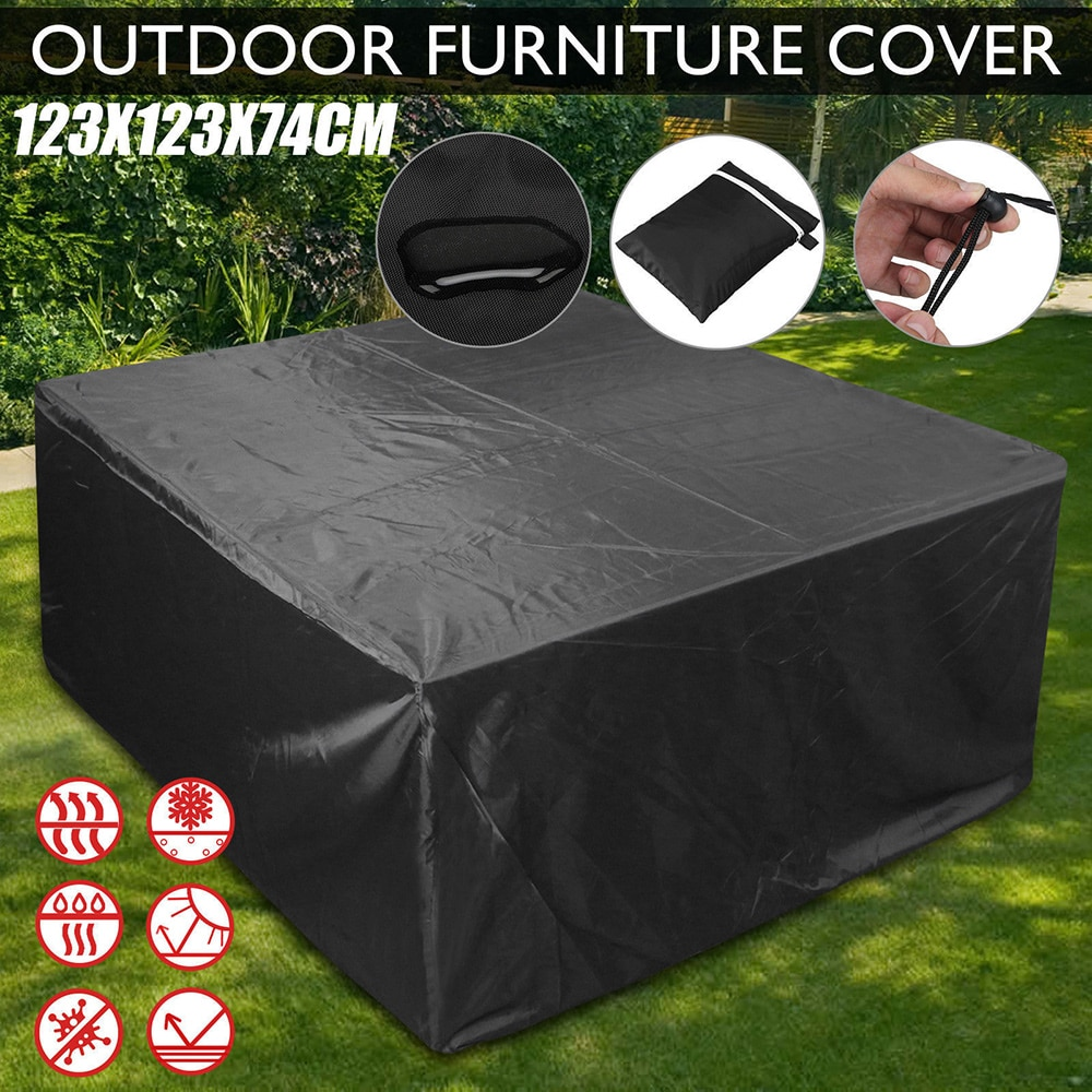 New Waterproof Outdoor Patio Garden Furniture Covers Rain Snow Chair Covers For Sofa Table Chair Dust Proof Cover Pvc