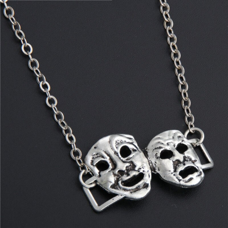 1Pc Exaggerated Mask Charms Necklaces Finding Trendy Hacker Choker For Men Gift Handmade Jewelry Acc