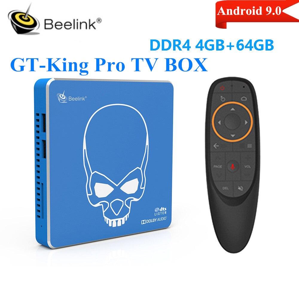 Beelink GT-الملك برو الذكية التلفزيون مربع Amlogic S922X-H الروبوت 9.0 4GB 64GB 2.4G 5.8G Wifi6 1000M BT4.1 4K تعيين كبار مربع ميديا بلاير